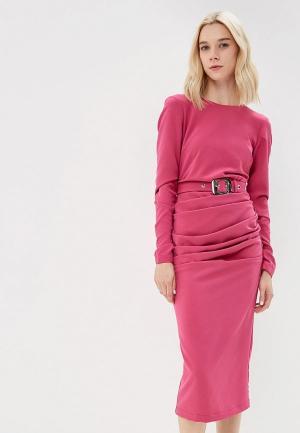 Платье Elena Andriadi. Цвет: розовый