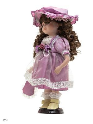 Кукла фарфор 12 Имма Angel Collection. Цвет: сиреневый, белый