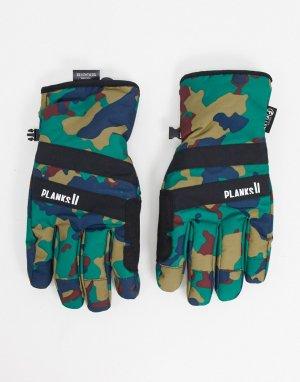 Утепленные перчатки с камуфляжным принтом Peacemaker-Мульти Planks