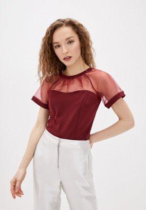 Блуза Concept Club. Цвет: бордовый