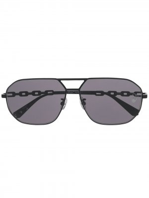Солнцезащитные очки-авиаторы Off-White. Цвет: черный