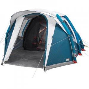Надувная Палатка Для Кэмпинга Base Air Seconds4.1 Fresh&black |4 Места 1 Комната QUECHUA