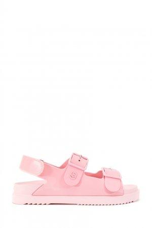 Розовые сандалии Gucci. Цвет: розовый