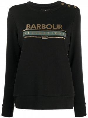 Толстовка с логотипом Barbour. Цвет: черный