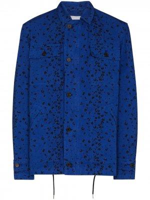 Куртка с принтом Kenzo. Цвет: синий
