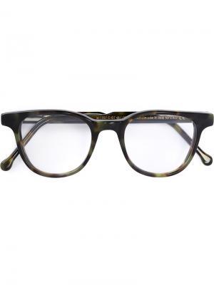 Очки с квадратной оправой Cutler & Gross. Цвет: коричневый