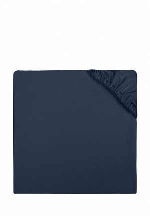 Простыня 2-спальная Bellehome Navy, 180х200x20 см