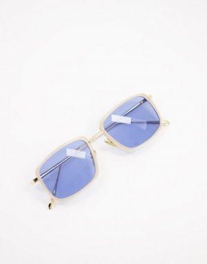 Квадратные солнцезащитные очки с кремовой оправой в стиле унисекс Aldo-Белый A.Kjaerbede