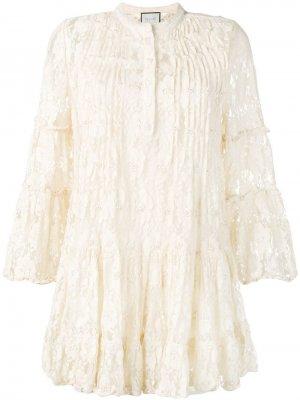 Декорированное кружевное платье Alexis
