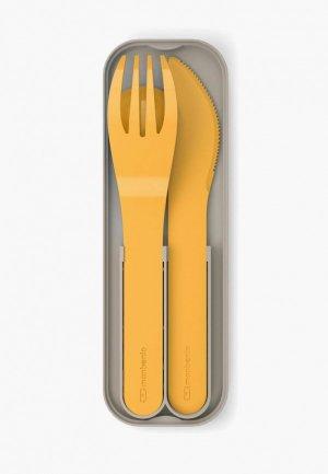 Набор столовых приборов monbento MB Pocket. Цвет: оранжевый