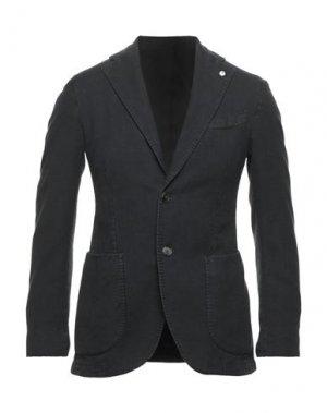 Пиджак BRANDO. Цвет: стальной серый