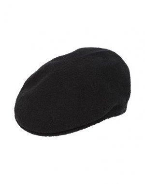 Головной убор KANGOL. Цвет: черный