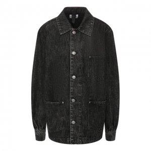 Джинсовая куртка Ganni. Цвет: серый