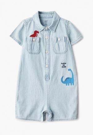 Комбинезон джинсовый Gap. Цвет: голубой