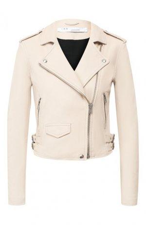 Кожаная куртка Iro. Цвет: бежевый
