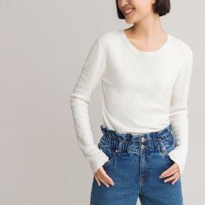 Пуловер LaRedoute. Цвет: бежевый