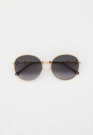 Очки солнцезащитные Gucci GG0881SA. Цвет: золотой