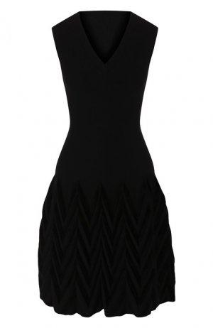 Платье из смеси шерсти и вискозы Alaia. Цвет: черный
