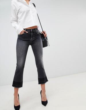 Укороченные расклешенные джинсы -Черный 7 For All Mankind