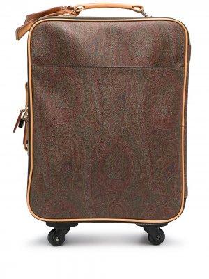Чемодан с принтом пейсли Etro. Цвет: коричневый