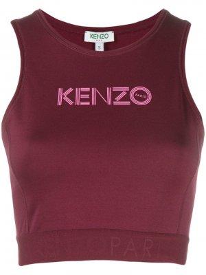 Укороченный топ с логотипом Kenzo. Цвет: фиолетовый