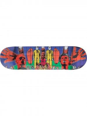 Доска для скейтборда Death After Life Supreme. Цвет: синий