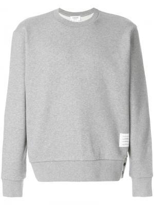 Пуловер с полосами на спине Thom Browne. Цвет: серый