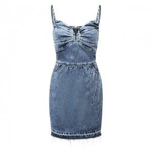 Джинсовое платье REDVALENTINO. Цвет: синий