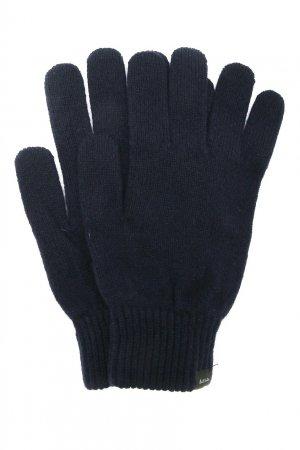 Темно-синие перчатки из кашемира PAUL SMITH. Цвет: синий