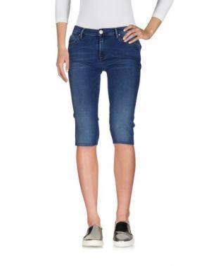 Джинсовые брюки-капри 0/ZERO CONSTRUCTION. Цвет: синий