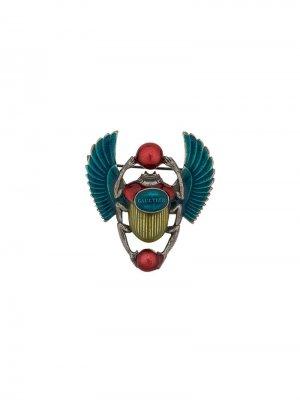 Брошь Scarab Jean Paul Gaultier Pre-Owned. Цвет: синий