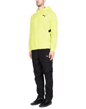 Спортивный костюм PUMA. Цвет: желтый