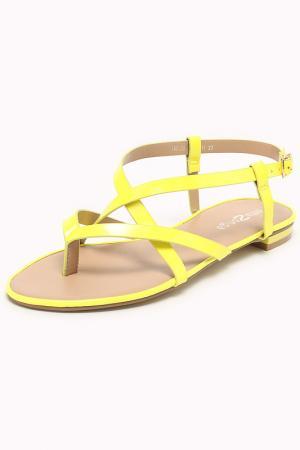 Сандалии Amazonga. Цвет: желтый