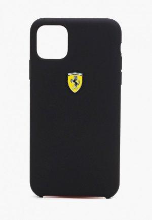 Чехол для iPhone Ferrari 11 Pro Max, On-Track Silicone case Black. Цвет: черный