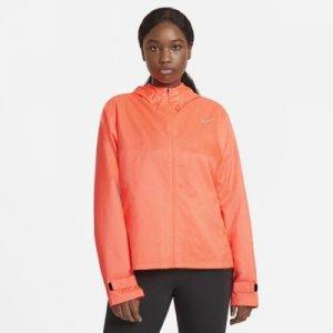 Женская беговая куртка Nike Essential (большие размеры) - Розовый