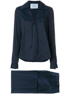 Пижама мешковатого кроя Prada. Цвет: синий