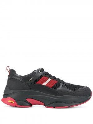 Кроссовки с полосками Bally. Цвет: черный