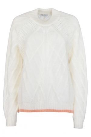 Белый пуловер из мохера Vionnet