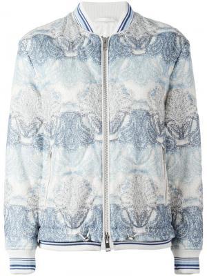 Printed bomber jacket Ermanno Scervino. Цвет: синий