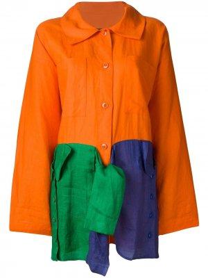 Легкое пальто свободного кроя JC de Castelbajac Pre-Owned. Цвет: желтый