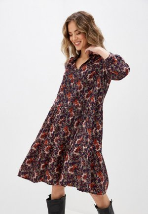 Платье Forus. Цвет: разноцветный