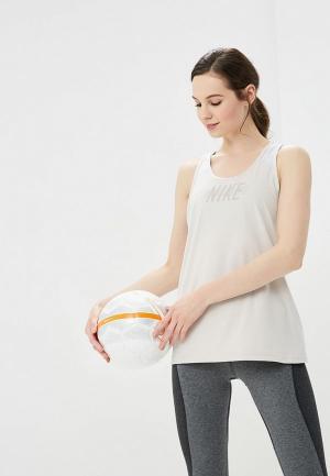 Майка спортивная Nike Dry Flow Womens Training Tank. Цвет: бежевый