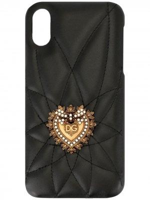 Чехол Devotion для iPhone XR Dolce & Gabbana. Цвет: черный