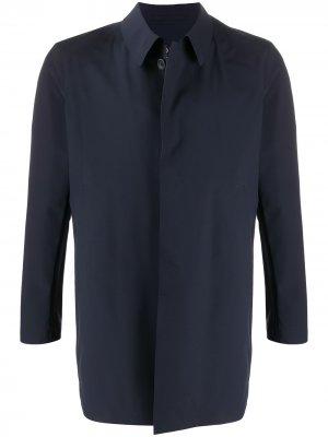 Однобортное пальто Herno. Цвет: синий