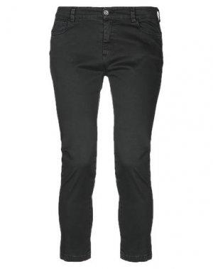 Джинсовые брюки-капри LE STREGHE. Цвет: черный