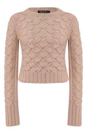 Кашемировый пуловер Loro Piana. Цвет: светло-розовый