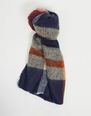 Красный шарф-одеяло в клетку -Многоцветный ASOS DESIGN