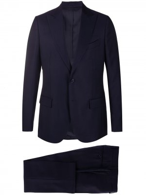 Delloglio костюм-двойка узкого кроя Dell'oglio. Цвет: синий
