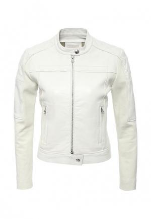 Куртка кожаная Pinko PI754EWOIE42. Цвет: белый