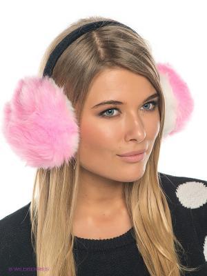 Теплые наушники Fur (розовые) Kawaii Factory. Цвет: розовый, белый, черный